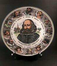Vintage Royal Doulton T.C. 1041 Character Plate Shakespeare 10.5 inches