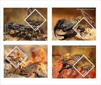 2014 SCORPIONS INSECTS BUGS 8 SOUVENIR SHEETS MNH UNPERFORATED insects