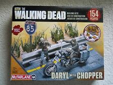 THE WALKING DEAD MCFARLANE CONSTRUCTION SET DARYL WITH CHOPPER NEW IN PACKAGE
