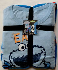 mens medium Cookie Monster Pajamas sleep set new fleece lounge pants shirt