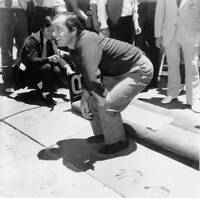 American Actor Jack Nicholson Plants His Footprints In Wet Cement OLD PHOTO