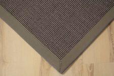 Sisal Teppich Manaus mit Bordüre grau 200x250 cm 100% Sisal
