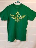 Nintendo Legend of Zelda Trefoil Green T Shirt Tee Size Medium EUC