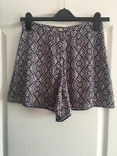 River Island Blue Print Shorts - Size 6