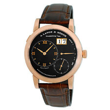 A Lange & Sohne 18K Rose Gold Lange 1 Date Power Reserve 101.031 Box Warranty