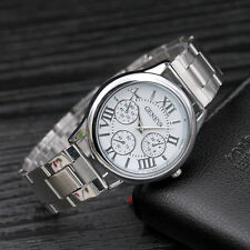 Mens Luxury Stainless Steel Band Sport Military Quartz Analog Dial Wrist Watches
