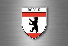 sticker adesivi adesivo stemma etichetta bandiera auto berlino germania