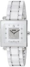 Fendi Womens Ceramic White Diamond Dial Swiss Quartz Watch F626140DPDC