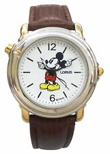 Brand new Lorus' Classic Disney  Musical watch/2 tone Case & Brown Leather Band