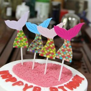 Cake Topper Mermaid 4pcs