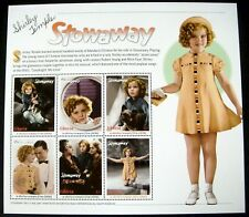 SHIRLEY TEMPLE STAMPS SHEET OF 6 MNH STOWAWAY LIBERIA ACTRESS ROBERT YOUNG MOVIE