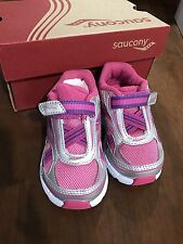 NIB SAUCONY Baby Toddler Girls Size 5W BABY RIDE Pink/Silver Sneakers SHOES