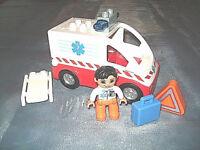 Lego Duplo Krankenwagen Notarzt Trage Figur 4979 Sirene Ambulance au Krankenhaus