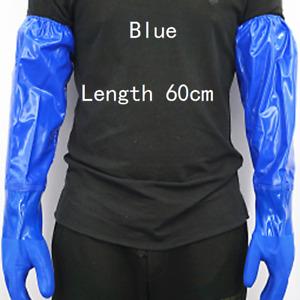 1 Pair Men Long Gloves Waterproof Anti-oil Labor Workwear Household Industrial