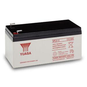 NP2.8 12 volt 2.8 ah GENUINE YUASA RECHARGEABLE ALARM/ SECURITY BATTERY