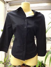 Women's Career Pinstripe 3/4 Sleeve Sleeve Button Down Shirt Tops & Blouses