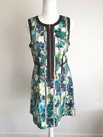 Portmans Floral Fit and Flare Zip Dress Size 10