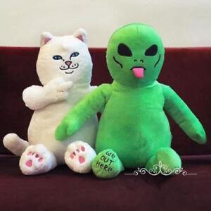 Ripndip Rip In dip Lord Nermal Pocket Cat Green Alien Lil Mayo Plush Doll toy