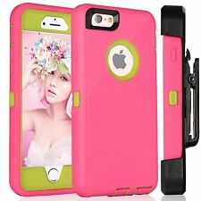 New Heavy Duty Case w/ Holster for Apple iPhone (Holster Fits Otterbox Case)