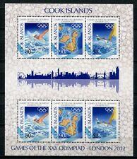 Islas Cook 2012 olimpiada london olympics nadar 1737-39 Klein arco mnh