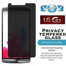 LG G3 PRIVACY TEMPERED GLASS SCREEN PROTECTOR ANTI SPY MATTE