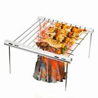 Stainless Steel Portable BBQ Grill Charcoal Outdoor Barbecue Folding Oven Table