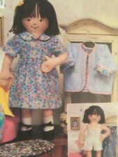 """Butterick Sewing pattern 3490 18"""" Soft Maggie Doll Clothes Jacket Top Dress UC"""