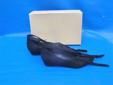 NEXT Lovely Black Fabric Ankle Tie WEDGE SHOES    UK: 5  BNIB