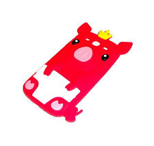 NEW SAMSUNG GALAXY S3 III RED PIG SILICONE RUBBER GEL CASE SUPER FAST SHIPPING