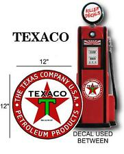 "12"" TEXACO PETROLEUM PRODUCTS GASOLINE OIL GAS PUMP LUBSTER DECAL (TEXA-5)"