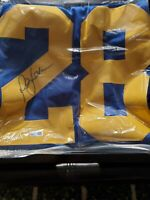 HOF Marshall Faulk Autograph Signed Jersey St. Louis Rams Auto Authentic Tristar