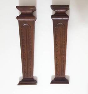 Antique wood Corbel bracket X 2 Architectural salvaged