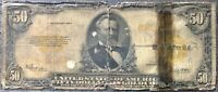 USA 50 Dollar 1922 Gold Certificate Large Size Selten Schein $50 Banknote #15783