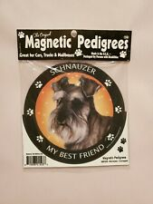 Pet Gifts USA Magnetic Pedigrees Dog Magnet - Schnauzer My Best Friend