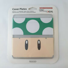 New Nintendo 3DS - Cover Plates 1-Up Green Mushroom NEW