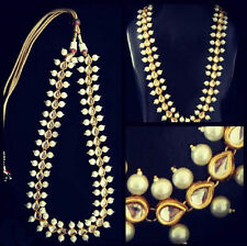 Indian Kundan Gold tone Traditional Bollywood Bridal Necklace Set Women Jewelry