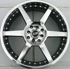 17x7 Adr Victory 4x100/114.3 +40mm Black Machined Face Wheel ( 1 Rim) Fits Civic