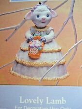 HALLMARK 1993 EASTER Lovely Lamb BELL FINE PORCELAIN EASTER ORNAMENT-NIB+pt
