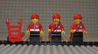 Lego Figuren Post Office post006 post007 post008 inkl. 61976 u Sackkarre 2495c01