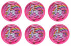 6 Unicorn Maze Puzzles - Pinata Toy Loot/Party Bag Fillers Kids Girls Pink Ball