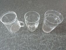 Vintage GLASSES (x3), Schott Jena Tankard + Needle Etched Tumbler+another Etched