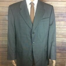NORMAN HILTON Suit Jacket Men's 44 Long Gray 3 Button