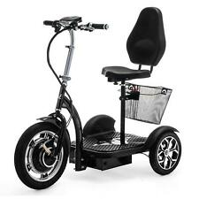 Folding 3 Wheel Electric Mobility Scooter Tricycle Trike Black VELECO ZT16
