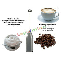 New Cordless Milk Frother Handheld Foamer Mixer Cappuccino Maker Latte Espresso