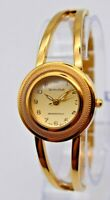 Ladies MONTRES CARLO Gold Tone Dress/Bracelet Watch, Analog, Quartz, Runs, 4308
