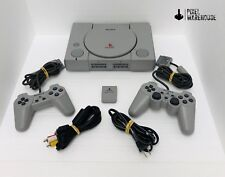 Sony Playstation 1 PS1 Original Console DualShock Memory Bundle Clean & Tested
