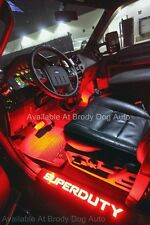 Ford SUPER DUTY LED Lighted Door Sills Black With Red F250 350 450 550 Recon