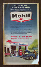 Mobil Oil Map Southern New England MA RI CT 1966 24 Panel (8x3) Excellent Cond