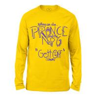 Prince Get Off Men's Long Sleeve T-Shirt Music Tee Yellow Purple Purple Rain