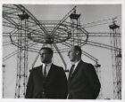 1963+Press+Photo+Warren+Spahn%2C+Joe+Torre+of+Milwaukee+Tour+Astrodome+Constructio